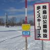 飛鳥山公園特設歩くスキーコース