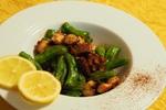 シェフの簡単おつまみレシピ「タコとししとうのガーリックチリソテー」の作り方