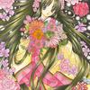 「花姫」色鉛筆&鉛筆オリジナル平安イラスト(再掲):野菜の傷みに春を感じる今日この頃