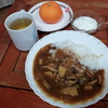 茸のカレーとヨーグルト