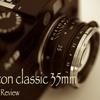 Nokton classic 35mm f1.4 レビュー