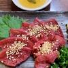 東京 新小岩 魚河岸料理「どんきい」 サメのハツ刺し レバ刺し風