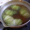 幸運な病のレシピ( 1218 )夜 :ロール白菜、戻り鰹、蕎麦、鱒
