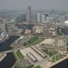 【写真複製・写真修復の専門店】横浜上空の画像をヌケ良く修復