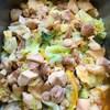 鶏肉とキャベツの柚子茶蒸し