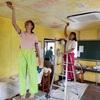 シックスティーナ アラ Kenji 二人のミケランジェリーナ             Deckenmalereien