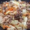 野菜炒め(焼肉たれ)