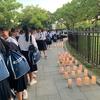 昨日は岡山の中学校さんのピースキャンドル