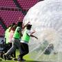 元サッカー日本代表選手もサプライズで登場! メルカリ初運動会をレポート