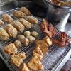 幸運な病のレシピ( 999 )朝:メンチカツ、さつまいもフリッタ、手羽先揚げ、小丸ジャガ素揚げ、味噌汁、鮭