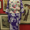 薄紫地萩撫子絽小紋×薄ピンク地四季花花の丸絽名古屋帯