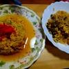 餡かけなのにパラパラのチャーハン、パッタイ風ビーフンとセットで。 レシピ付き