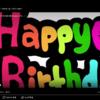 2月1日より、誕生日のお友達に送る、happy birthdyの動画を新しくしました