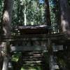 川上村神之谷の林道から清谷神社へ