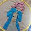 《スクフェスPDP》天王寺璃奈ちゃんの刺繍Part2-璃奈ちゃんについて解説入り/今年初の一枚/途中経過-