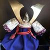 端午の節句、兜飾りました。厄払い、魔除けで今年は旧暦まで飾ろうと思ってます。てっぺんの「八幡座」から神様舞い降りてこられます。