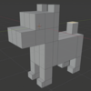 Blenderで簡単ボーンアニメーション