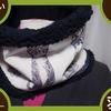 【着物リメイク】大島紬 ネックウォーマー 黒留袖