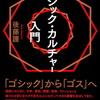 後藤護『ゴシック・カルチャー入門』(Pヴァイン発行)