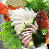 旬の食材集めました。はた、花咲蟹、あわびのお刺身