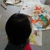 1歳8か月、絵の具とお掃除やらせてみた☆
