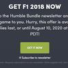F1レースゲーム「F1 2018」のSteamキーが8月11日までHumble Storeにて無料配布中。日本語対応