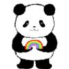 令和への架け橋 パンダのイラスト