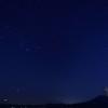 オリオン座と桜島