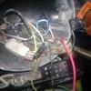 RV90 2号機 ライトケース内の配線修理