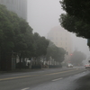 週末の上海、秋に入って久しぶりに雾霾の来襲。