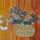 絵画の中のかご⑦二条城二の丸御殿の杉戸花篭図