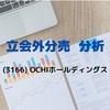 【立会外分売分析】3166 OCHIホールディングス