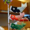 『折り紙で兜と 猫グッズ』