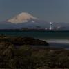 森戸海岸から見る富士山