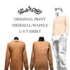 ポルタアンドゲートオリジナル=サーマル/ワッフル素材=ヘンリーネックTシャツ