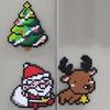 【アイロンビーズ】クリスマス サンタ・トナカイ・ツリー