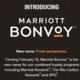 マリオットの統合ロイヤリティ・プログラム「Marriott Bonvoy」は2月13日に開始