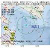 2017年10月15日 11時43分 浦河沖でM3.1の地震