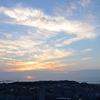 権現山で日没