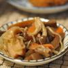 ナポリタンと芋茎(ずいき)の煮物
