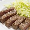 広告の品の牛肉が安かったので、塩胡椒のシンプルなステーキ