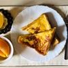 休日の朝ごはん♩長女が作ったフレンチトースト