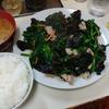 高円寺【ラーメン万福】キクラゲ定食(半ライス) ¥690
