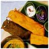 南インドのチキンカレー&カラフルなおばけナン