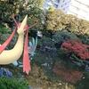 旧古河庭園には日本庭園も【ポケモンGOAR写真】和風ミロカロスと和風ブースター