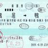 JR東海  沼津駅指定席券売機発行 乗車券 8<途中下車印収集>