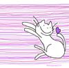 眠るまえに思いだし笑い 猫のイラスト