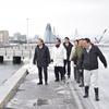 青森港親水緑地雪処理施設を視察
