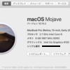 【macOS Mojave】ただクリーンインストールしたかったのだけど・・・