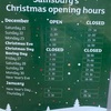 クリスマス中はスーパーがやっていないので注意!